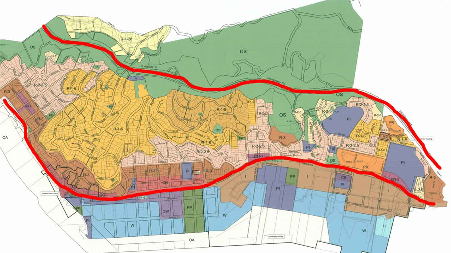 Zoning Map Boundaries